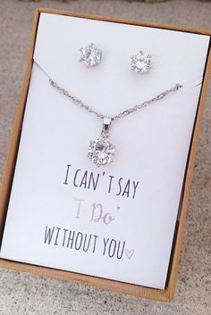 Bridesmaid Gift Jewelry Set