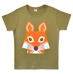 We have teamed up with French company Coqenpate  to create these lovely organic cotton T shirts  bearing some of our most popular animal designs. Color : Khaki                 Fabric : Jersey, 100% organic cotton certified GOTS  Screen printed : Water ink, Azo free                                            Sizes : from 2 to 8 years          Wash : 30°C inside out Made in India  Size