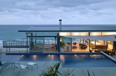 Okitu Beach House designed by Pete Bossley Architects.