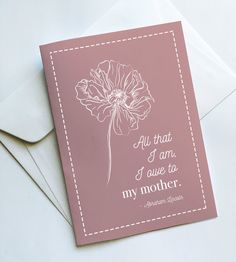 printed greeting card printed on white card with a blank inside.All cards come packaged in a transparent sleeve with a coordinating coloured envelope. Colored Envelopes, Greeting Cards, Day, Pretty