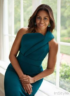 First Lady Michelle Obama on Style, Social Media, and the Biggest Challenges Facing Girls Today - Black women Michelle Obama Fashion, Barack And Michelle, Beautiful Black Women, Beautiful People, Beautiful Dresses For Ladies, Black Women Style, Black Women Fashion, Beautiful Gorgeous, Absolutely Gorgeous