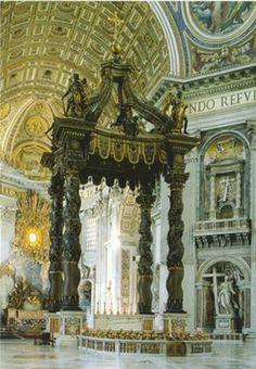 Bernini's Baldachino - St Peter's Basilica, Vatican, Rome, Italy  the beauty is overwhelming!!!