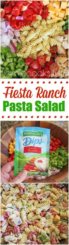 Fiesta Ranch Pasta Salad from Jamie Cooks It Up!