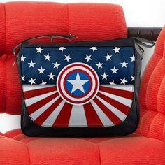 Captain America Shield Avengers S.H.I.E.L.D. Unisex Messenger Sling Laptop Notebook School Bag