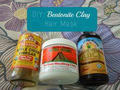 Bentonite clay hair mask