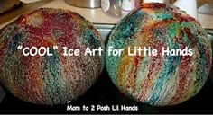 """Mom to 2 Posh Lil Divas: Preschool Science: """"COOL"""" Ice Art for Little Hands. Better way to do water and ice experiment. I hope my fifth grade teacher friends see this! Preschool Science, Craft Activities For Kids, Science For Kids, Science Activities, Science Projects, Science Experiments, Preschool Activities, Art For Kids, Crafts For Kids"""