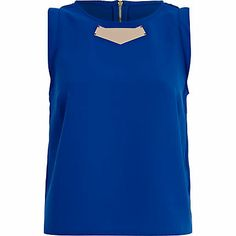 Get set for the new season with our collection of women's tops. From crop tops to going out tops and off the shoulder styles, find all our tops here. Going Out Tops, Summer Tops, River Island, Crop Tops, Lady, How To Wear, Blue, Collection, Metal