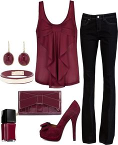 Gorgeous Burgundy Outfit