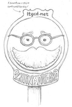 Sign featuring emoji icon based on Ebenezer Howard's features.