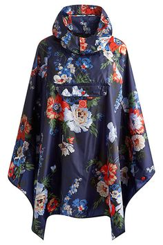 What To Wear If Glasto's A Washout  #refinery29  http://www.refinery29.com/2014/06/70098/wet-weather-festival-essentials#slide2  Keep your outer extremities as dry as can be with a little help from this floral poncho. Joules Bouquet Print Rain Proof Hooded Poncho, £24.95, available at John Lewis.