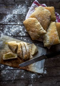 Pain Ciabatta, Bread And Pastries, Easy Bread, Mets, Base, Fabulous Foods, I Love Food, Food Truck, Food Photo