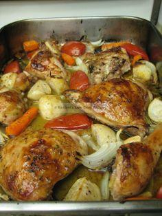 Lebanese Baked (Lemon) Chicken