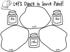 Students have so much fun using this template to have their mice (actually cotton balls)dance in paint to make new colors.  Enlarge this to 11x17 p...