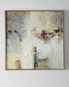 Art/Wall Decor - 'Connectivity' Framed Abstract Art - Neiman Marcus - neutral colored abstract art, gray and white abstract art, cool toned abstract art,