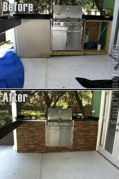 Wellington Photo Gallery: Faux Panels Design Ideas and Photos Outdoor Kitchen Grill, Outdoor Grill Station, Backyard Kitchen, Outdoor Barbeque, Outdoor Kitchens, Outside Living, Outdoor Living, Outdoor Decor, Outdoor Spaces