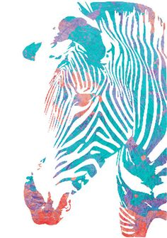 Watercolor Painting Safari Animal Zebra by WatercolorGirlArt