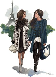 New York City based artist Inslee Fariss creates watercolor illustrations for weddings, events, brands and fine art commissions Friends Illustration, Travel Illustration, Long Island Ny, Girl Sketch, Fashion Sketches, Fashion Illustrations, Art Pages, Girls Best Friend, Pretty Pictures