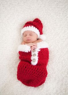 Newborn Christmas Outfit Santa Swaddle Sack and Santa Hat Set Newborn  Christmas Prop Holiday Snuggle Sack Christmas Photo Prop Ready to Ship f8d672c60490