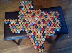Very cute and could do with every state!  Would be nice to also use bottle caps that are made within that state or at least reflect the state.