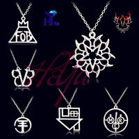 New Fashion Rock Band Black Veil Brides Music BVB Logo Tokio Hotel Rock Retro Fall Out Boy Rock Music Pendant Necklace Jewelry