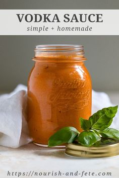 The BEST homemade vodka sauce! Rich, creamy, and made with canned whole tomatoes so it's fast and easy to make year-round. Hands down the most amazing homemade pasta sauce from scratch. via pasta sauce Our Favorite Homemade Vodka Sauce Pasta Con Vodka, Penne Vodka Sauce, Homemade Vodka Sauce, Homemade Pasta Sauce Easy, Recipes With Homemade Pasta, Sauce Carbonara, Canning Whole Tomatoes, Pasta Casera, Creamy Tomato Sauce