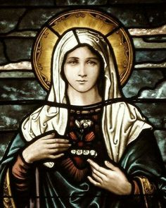Immaculate Heart of Mary (stained-glass)