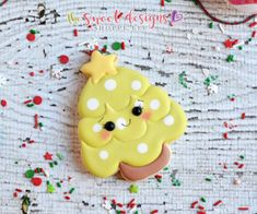 7a6d586f0347 Kawaii Christmas Tree with Star. The Sweet Designs Shoppe
