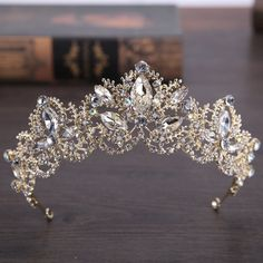 Anastasia - Elegant and graceful, this tiara will make any day special Tiara Hairstyles, Wedding Hairstyles, Wedding Hair Accessories, Fashion Accessories, Crystal Crown, Shape Patterns, Types Of Metal, Crystals, Luxury