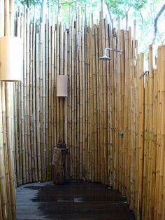 bamboo outdoor shower Love this living room. outdoor shower Seaside Style: A Beach Cottage Dream divine outdoor kitchen