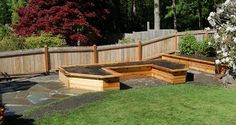 Raised beds that are also benches