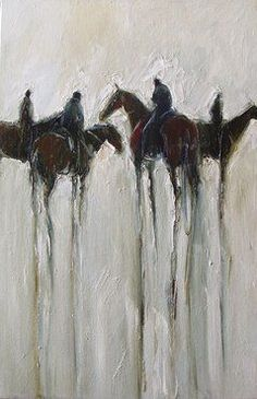 Catch Up - Allison Hale Abstract Horse Painting, Watercolor Horse, Abstract Animals, Figure Painting, Culture Art, Horse Illustration, Horse Artwork, Cow Art, Horse Drawings