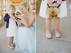 Closable box so rings do not get lost! Ive been wondering how to include hannah, now I know!Modern Vow Renewal Inspiration With Blue Details