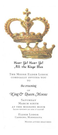 Kings & Queens Crown Invitation by Odd Balls