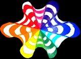 Color wheel op art-- use to teach Complimentary Colors Color Art Lessons, Color Wheel Projects, Color Wheel Art, 7th Grade Art, Middle School Art Projects, Principles Of Art, Art Lessons Elementary, Elements Of Art, Art Lesson Plans
