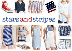 summers americana trend! red, white and blue + stars and stripes