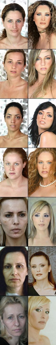 Celebrity With and Without Makeup