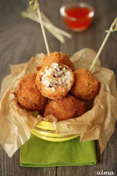 Smoked Salmon Rice Balls Recipe Just 2 packs from Alaska left Salmon Rice Balls Recipe, Salmon And Rice, Seafood Recipes, Appetizer Recipes, Cooking Recipes, Appetizers, I Love Food, Good Food, Yummy Food