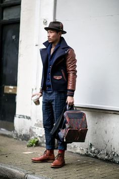 The London Collections Men AW15: Street Style Day 1