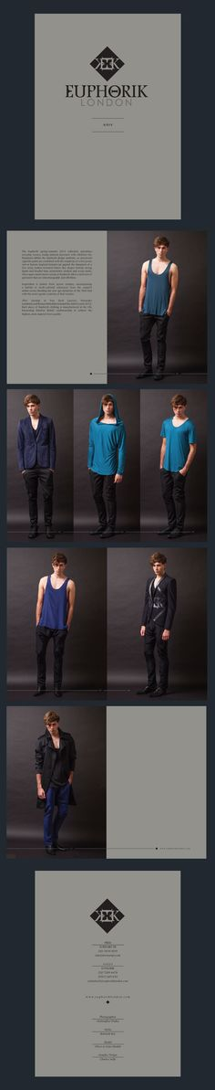 Euphorik look book Spring/Summer 2013 designed by The Usual Studio #lookbook #fashion #menswear #theusualstudio
