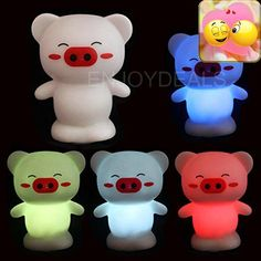#nursery Features: 100% Brand New and High Quality; New designed LED night light; #Cute and good #looking; Suitable for home, coffee bar decoration; Nice toy for ...