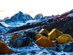 Island Peak Basecamp Himalaya Nepal.