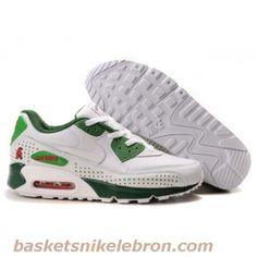 Nike air max 90 blanc vert hommes Air Max Femme Vente