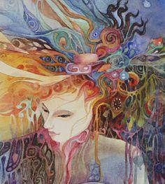 """Goddess Brighid (zoom 1)"" par Helena Nelson-Reed"