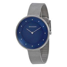 Skagen Women's SKW2293 Gitte Analog Blue Dial Mesh Bracelet Watch