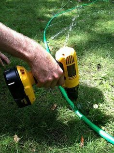 DIY - Why is this guy drilling holes in his hose? Garden Projects, Diy Projects, Garden Ideas, Gazebo, Do It Yourself Projects, Outdoor Fun, Yard Art, Summer Fun, Gardening Tips