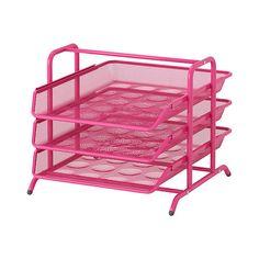 Ikea Dokument File Desk Organizer Pink Trays Steel: Amazon.ca: Office Products