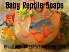 Birthday Party REPTILE EGGS Soap lizards by wildfloweravenue
