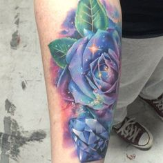 Real short video of Saturday's space/galaxy rose, I almost fell over taking this  thanks again Lisa! /tattooteaparty/