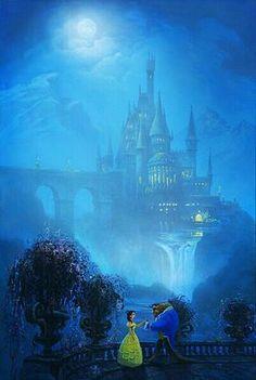 Disney Art Beauty and the Beast Disney Amor, Film Disney, Disney Love, Disney Magic, Disney Girls, Disney E Dreamworks, Disney Pixar, Tinkerbell Disney, Disney Characters