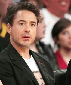Robert Downey Jr. at a Lakers game